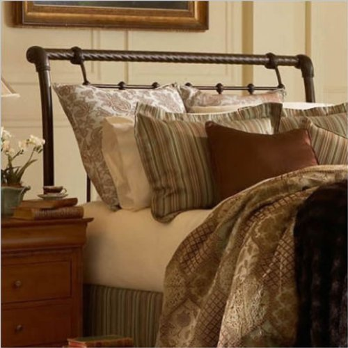 Fashion Bed Group Legion King Size Headboard In Ancient Gold Finish front-1020050