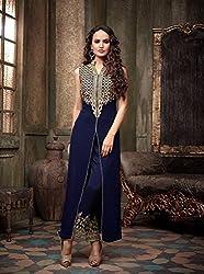 Divine Fab Women's Cotton Unstitched Dress Material (Divine Fab_14_Bottlegreen_Free Size)