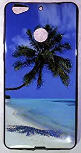 MJR Printed Back Cover for LeTV Le 1s (Sea Beach) + FREE HD EarPhone