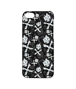 Block Print Company Symbolic Cross Bones Phone Cover for iPhone 4
