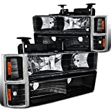 Chevy C10 C/K Pickup Black Headlights, Bumper, Corner Lights 8Pc