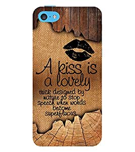 A kiss Is Lovely 3D Hard Polycarbonate Designer Back Case Cover for Apple iPod Touch 6 (6th Generation)