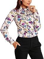 KAREN Camisa Mujer (Rosa / Azul)