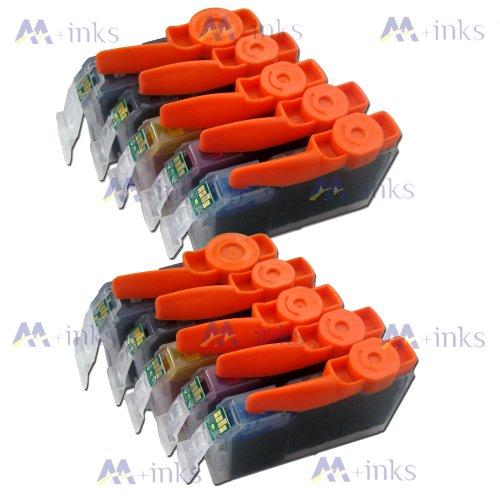 10x Druckerpatronen Kompatibel für Canon PGI-550 CLI-551 mit CHIP und Füllstandanzeige für Canon Pixma iP7250 IP8750 IX6850 MG5450 MG5550 MG6350 MG6450 MG7150 MX725 MX925 Tintenpatronen PGI550BK CLI551C CLI551M CLI551Y und CLI551BK