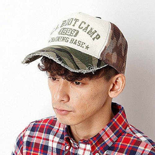 カスターノ(KASTANO) 帽子(カモ柄メッシュキャップ)【オリーブ/**】