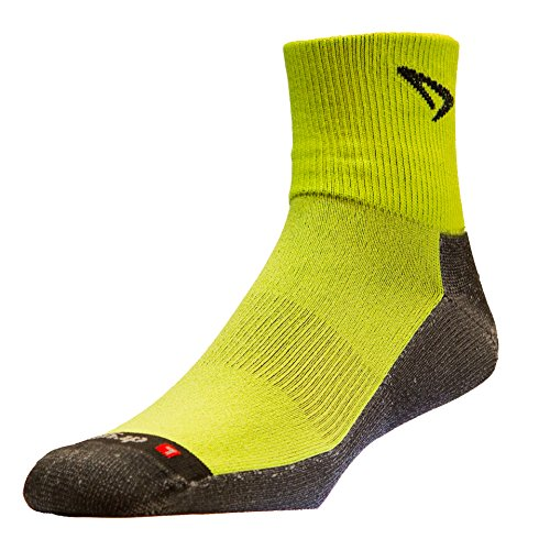 DRYMAX(ドライマックス) Lite Trail Running 1/4 Crew―Turndown S Lime×Black