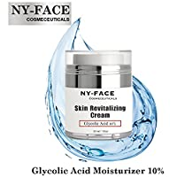 NY FACE's Best Skin Revitalizing Cream - Glycolic Acid 10% Naturally Exfoliates, Visibly Reduces Wrinkles