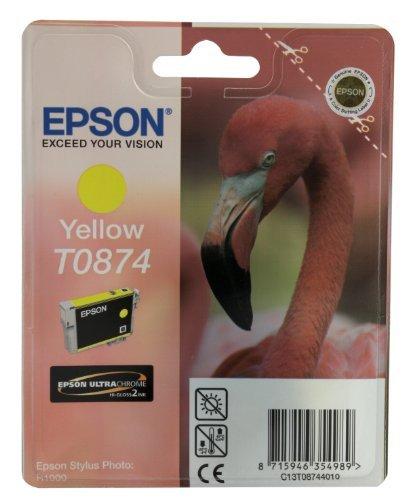 Epson C13T08744010 Cartouche d'encre jaune pour Stylus Photo R 1900