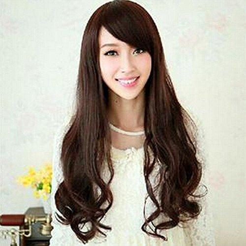 Spritech(TM) New Stylish Natural Black Fluffy Realistic?Half Head Wig Long Wavy Curly Hair Wig Fiber Synthetic Women?Wig