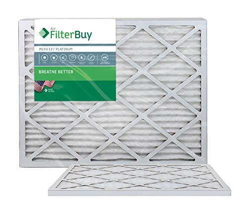 AFB Platinum MERV 13 12x30x1 Pleated AC Furnace Air Filter. Pack of 2 Filters. 100% produced in the USA. (Furnace Filter 12 X 30 compare prices)