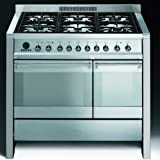 Smeg A2PY-8 Opera Stainless Steel 100cm Dual Fuel Range Cooker With Pyrolytic Function