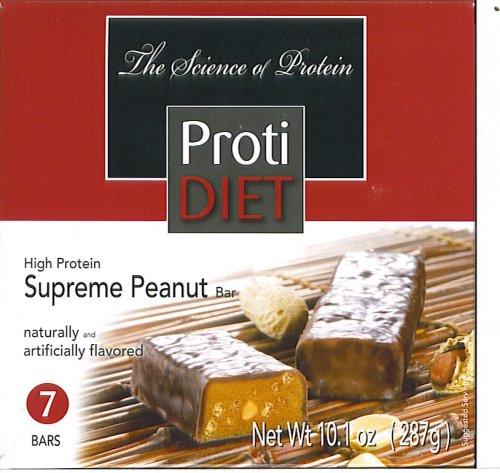 Protidiet Supreme Peanut High Protein Bars (1 Box of 7 Bars)