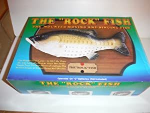 Mounted moving singing fish the rock fish for Talking fish toy