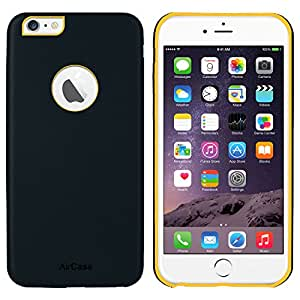 AirCase iPhone 6s Plus/ 6 Plus Leather Feel 1mm Slim Back Case/Cover with Apple Cut Out (Navy Blue)