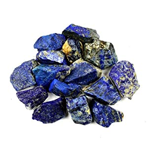 Crystal Allies Materials: 4oz Bulk Rough Lapis Lazuli Stones from Afghanistan - Large 1