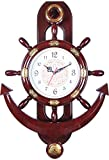 sns creations ariel pendulum wall clock - 51 cm x 36 cm, Brown