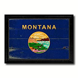 Montana State Vintage Flag Collection Western Interior Design Souvenir Gift Ideas Wall Art Home Decor Office Decoration - 23''x33''