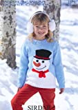 Sirdar Children's Christmas Snowman Sweater DK Knitting Pattern 2375