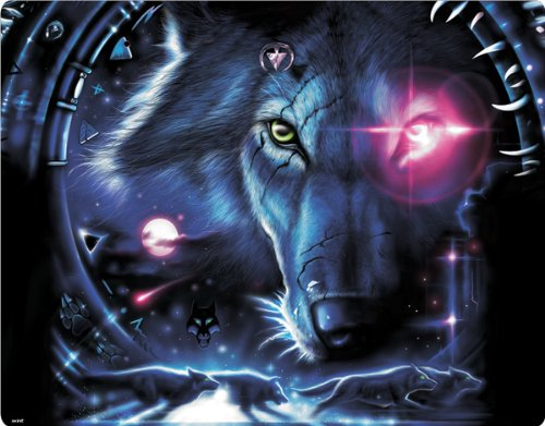 Liquid Blue - Fantasy Wolf - Motorola Droid 2 - Skinit Skin butterfly green and black butterfly motorola droid 2 skinit skin