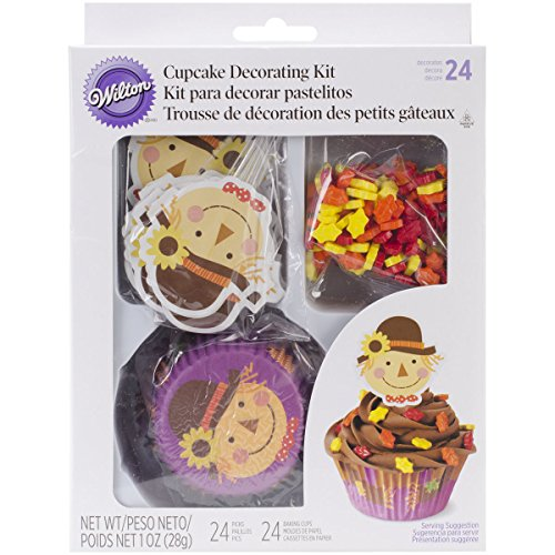 Wilton Cupcake Decorating Kit Scarecrow, Pack of 24 - 1
