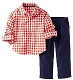 Carter's Baby Boys' 2 Piece Pants Set (Baby) – Orange – 9 Months thumbnail