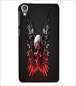 PrintDhaba Skull D-1240 Back Case Cover for HTC DESIRE 820 (Multi-Coloured)