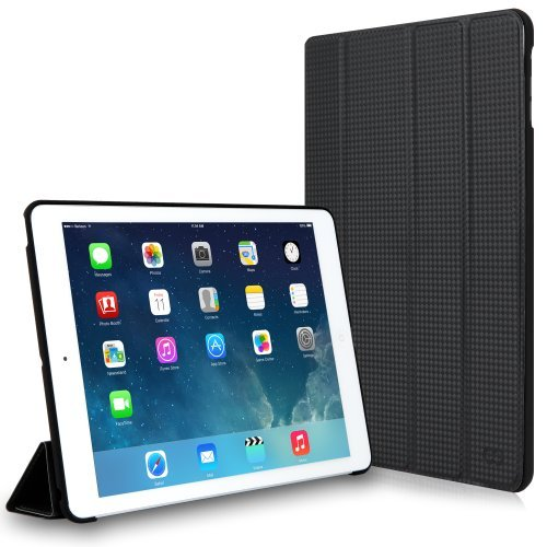 CaseCrown Omni Case (Carbon Fiber Black) for Apple iPad Air with Sleep / Wake Feature & Multi-Angle Viewing Stand