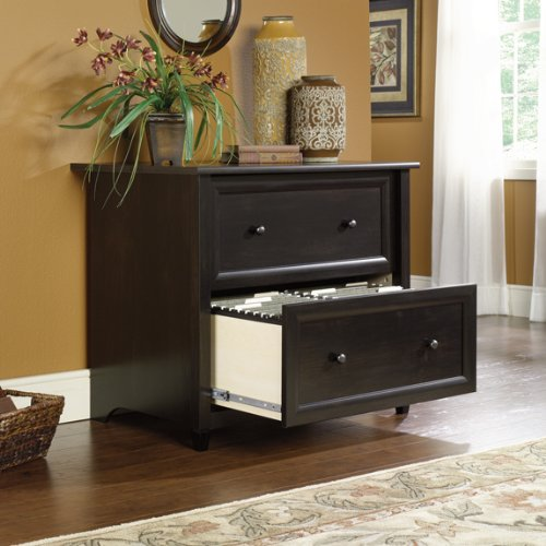 Edge Water Two Drawer Lateral File Estate Black Finish