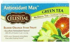 Celestial Seasonings Antioxidant Max Tea, Blood Orange Star Fruit, 20 Count (Pack of 6)