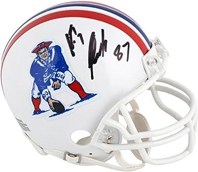 Rob Gronkowski New England Patriots Autographed Throwback Mini Helmet - Fanatics Authentic Certified