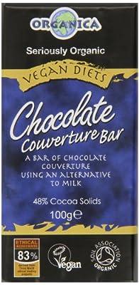 Organic Chocolate with Rice Milk Vegan Organica Org 100 g (Pack of 3)