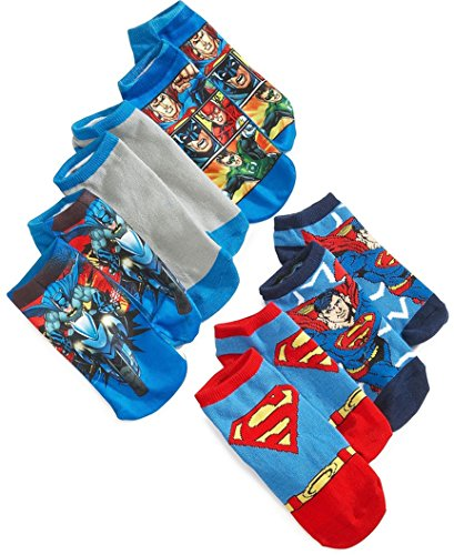Boys Batman And Justice League Ankle Socks - 5-Pack (6-8 1/2)