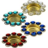 Ayush International _ Premium Quality Diwali Diya Lights Candle Holderffor Decoration ( Set Of 4 )