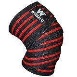 WINDAUD ニーストラップ - ニーラップ ベルクロタイプ - ウェイトリフティング & フィットネス & パワーリフティング - 圧縮&弾性膝サポート