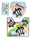 ハワイアン雑貨/ トイレマット 3点セット (ウォシュレット用) ホヌ/レインボー【ハワイ雑貨】【お土産】