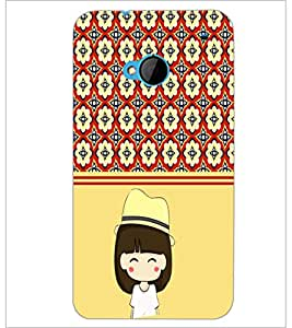 PrintDhaba Cute Girl D-2778 Back Case Cover for HTC ONE M7 (Multi-Coloured)