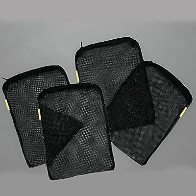 """Filter Bags,Govine Aquarium Universal Media Filter Bag for Pelletized Carbon, Bio Balls, Ceramic Rings, Ammonia Remover (Black, 8""""x 5.5"""" 4-Pack)"""