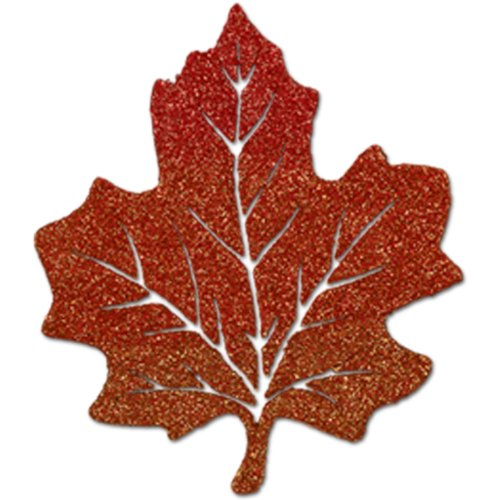 Glittered Maple Leaf Party Accessory (1 count) (1/Pkg)