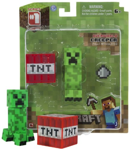 """Overworld Creeper ~2.6"""" Minecraft Mini Fully Articulated Action Figure Pack"""