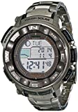 Casio Mens PRW2500T-7CR Pathfinder Triple Sensor Tough Solar Digital Multi-Function Titanium Pathfinder Casual Watch