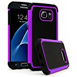 Galaxy S7 Case, Bastex Heavy Duty Slim Fit Hybrid Armor Premium Dual Shock Rubber Silicone Cover with Hard Protective Case for Samsung Galaxy S7 (Purple)