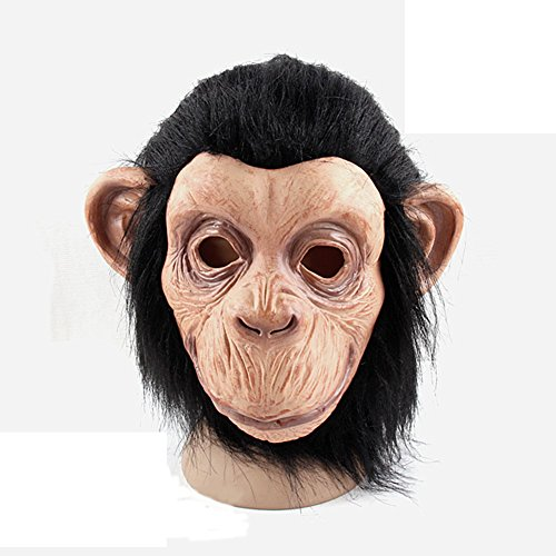 KM Halloween Party Animal Latex Masks Masquerade Mask Monkeys Head Mask