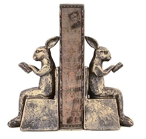 Studious Rabbit Bookends, Reading Rabbit Book Ends