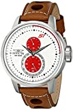 Invicta 16018 Men's S1 Rally Multifunction White Dial Brown Leather Strap Watch