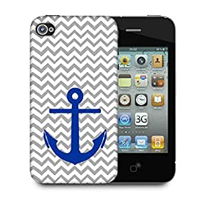 Snoogg Anchor Wave Designer Protective Back Case Cover For Apple Iphone 4