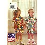 Childrens Shirt & Shorts (Butterick Sewing Pattern 3297, Size: 2,3,4) ~ Butterick See & Sew...
