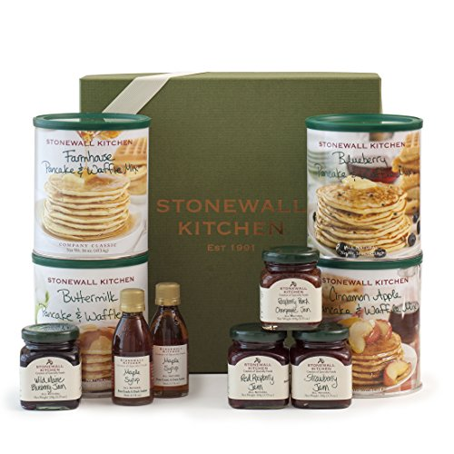 Stonewall Kitchen Pancake Sampler 10 Piece Set Includes Four 3.75 oz Jams, Four Pancake and Waffle Mixes and Two Maple Syrups (Stonewall Kitchen Pancake Mix compare prices)