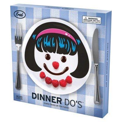 Fred Dinner Do's 3pc Melamine Plate Set - Girls - 1