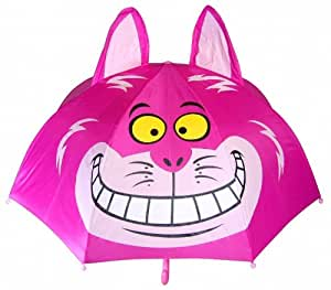 Disney Alice in Wonderland the Cheshire Cat Umbrella with Cat Ears 48cm for Kids