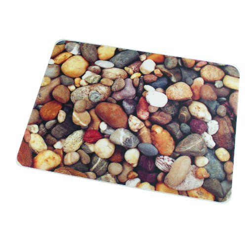Colortex UltiMat Photo Printed Polycarbonate Chair Mat for Carpets, Hard Floors, Pebbles Print, 48 x 36 Inches, Rectangular (229220ECPB)